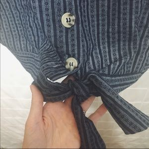 Maurices Tops - NWT Maurices Button & Tie Front Blouse
